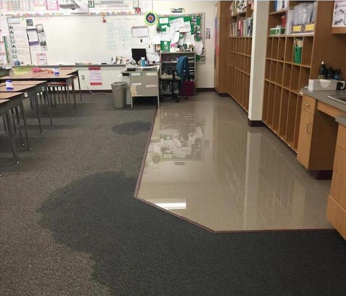 Water Damage in Greens Ferry Elementary School Before