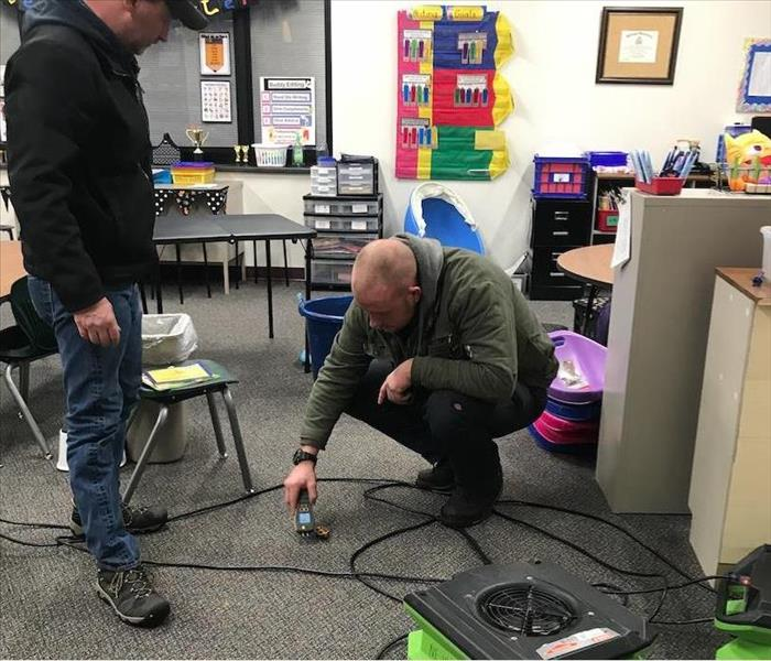 Water Damage in Greens Ferry Elementary School After