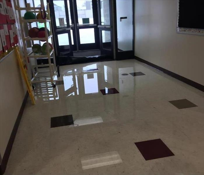 Commercial Water Damage in an Elementary School